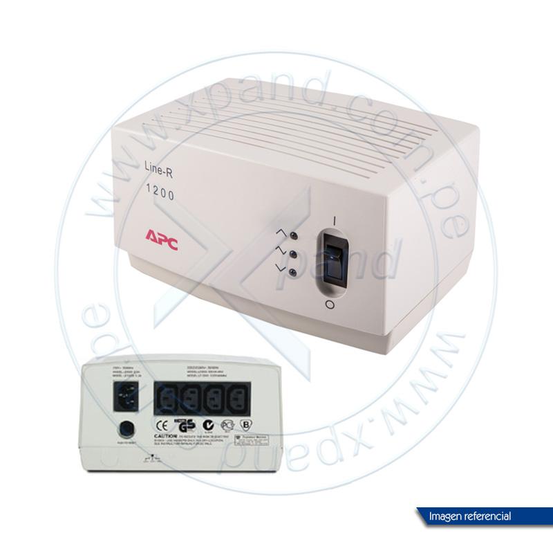 Imagen: Regulador de voltaje APC LE-1200I, 1200VA, 220V, 4 tomacorrientes C13.