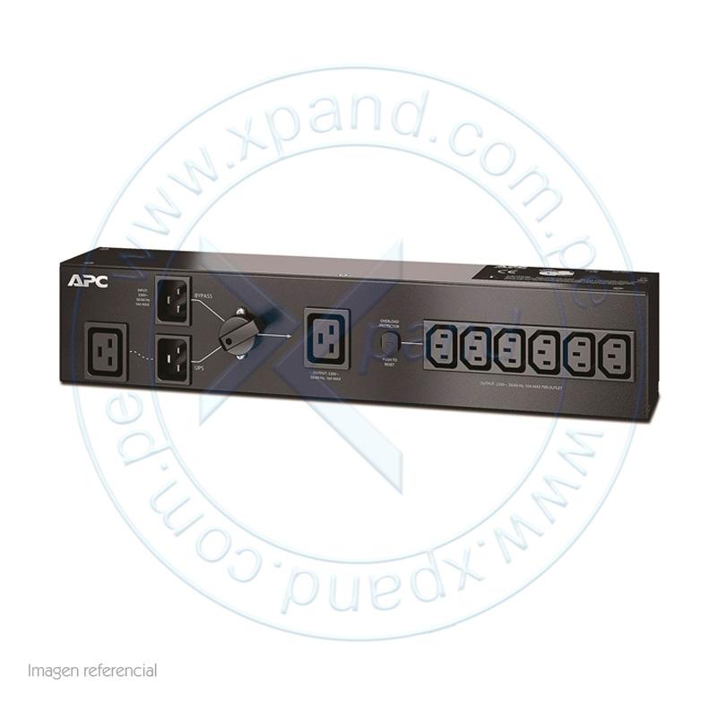 Imagen: Unidad PDU de bypass para mantenimiento de APC SBP3000RMI, 230V, 16A, C13 y C19.