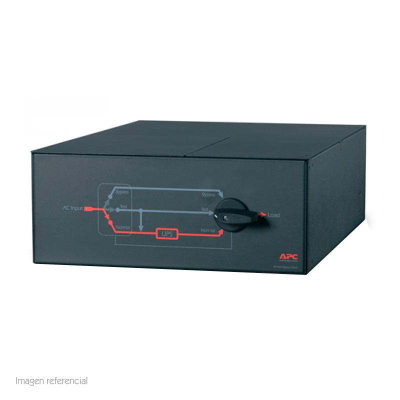 Imagen: Tablero de bypass para mantenimiento APC SBP16KRMI4U, 230V, 100A, disyuntor MBB.