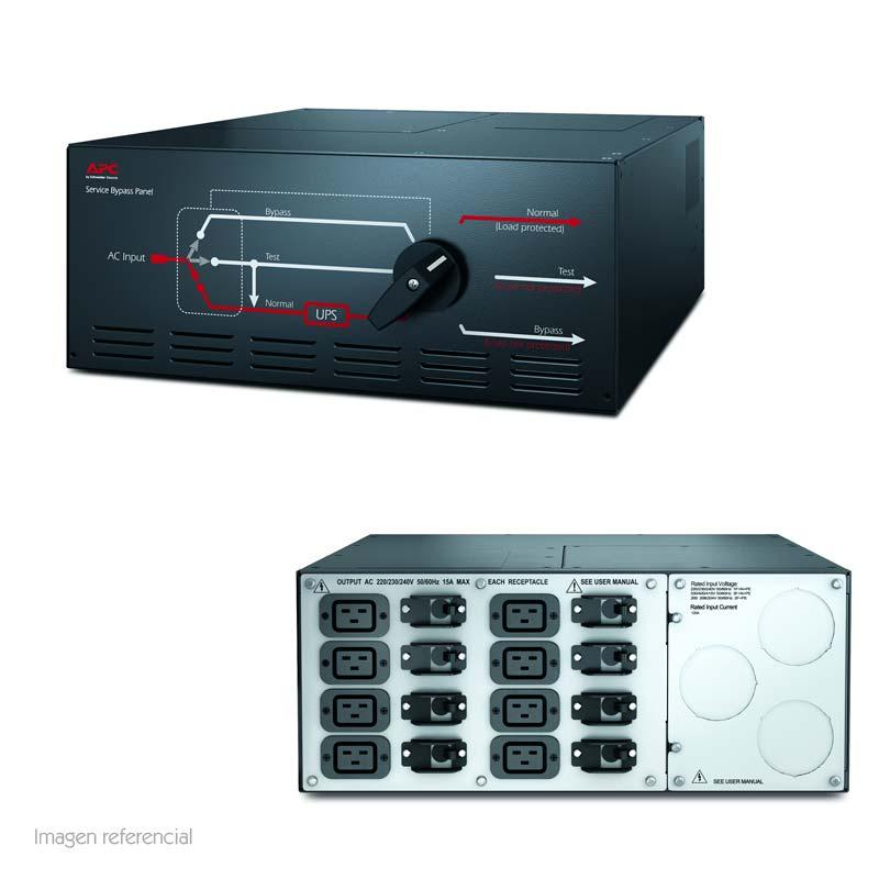Imagen: Tablero de bypass para mantenimiento APC SBP20KRMI4U, 230V, 125A, 3 disyuntores.