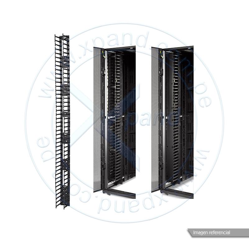 Imagen: Organizador vertical de cables APC AR7585, 2 piezas, para gabinetes NetShelter SX, 45U.