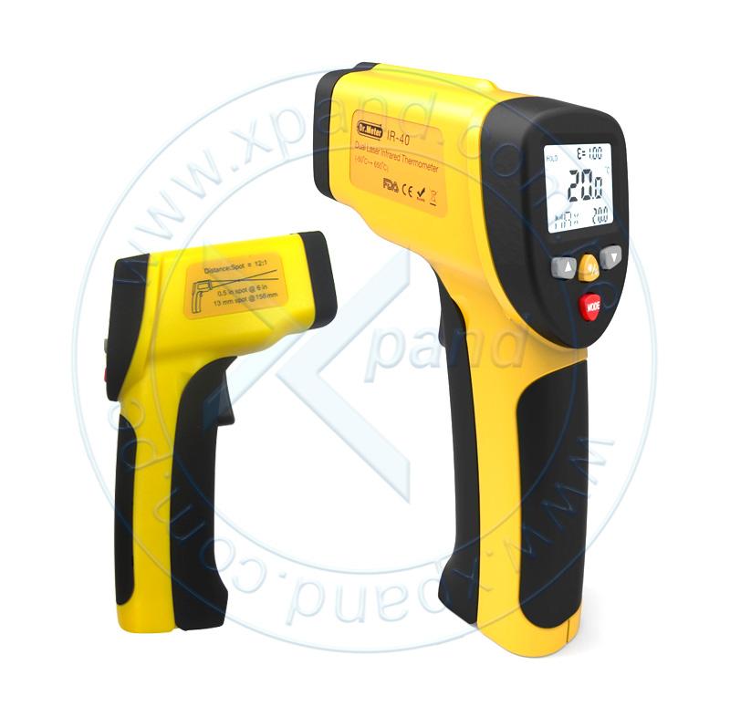 Imagen: Termómetro infrarrojo digital Dr. Meter IR-40, -50º C hasta 650º C, Dual Laser, Display.