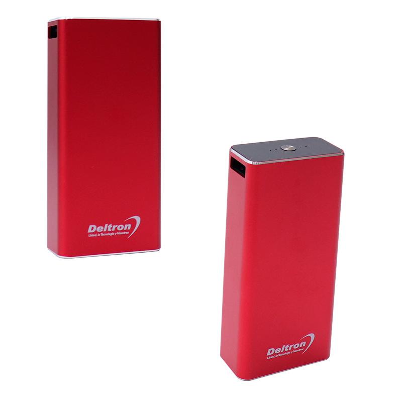 Imagen: Batería externa recargable Deltron PB4010, 10 000 mAh, 5V / 2.1A, USB, micro-USB, Rojo.