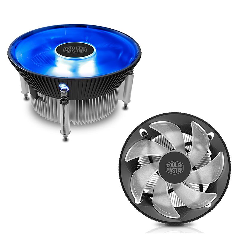 Imagen: Fan Cooler Cool Master i70C, Aluminio, cobre, Led Azul, 12 VDC.
