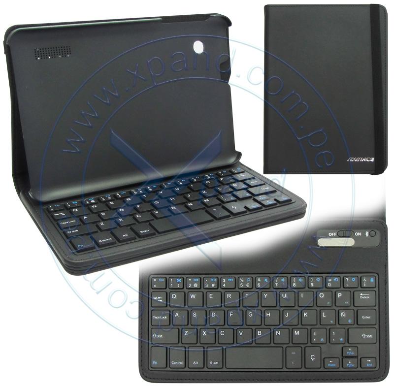 Imagen: Estuche Advance con teclado Bluetooth, negro.