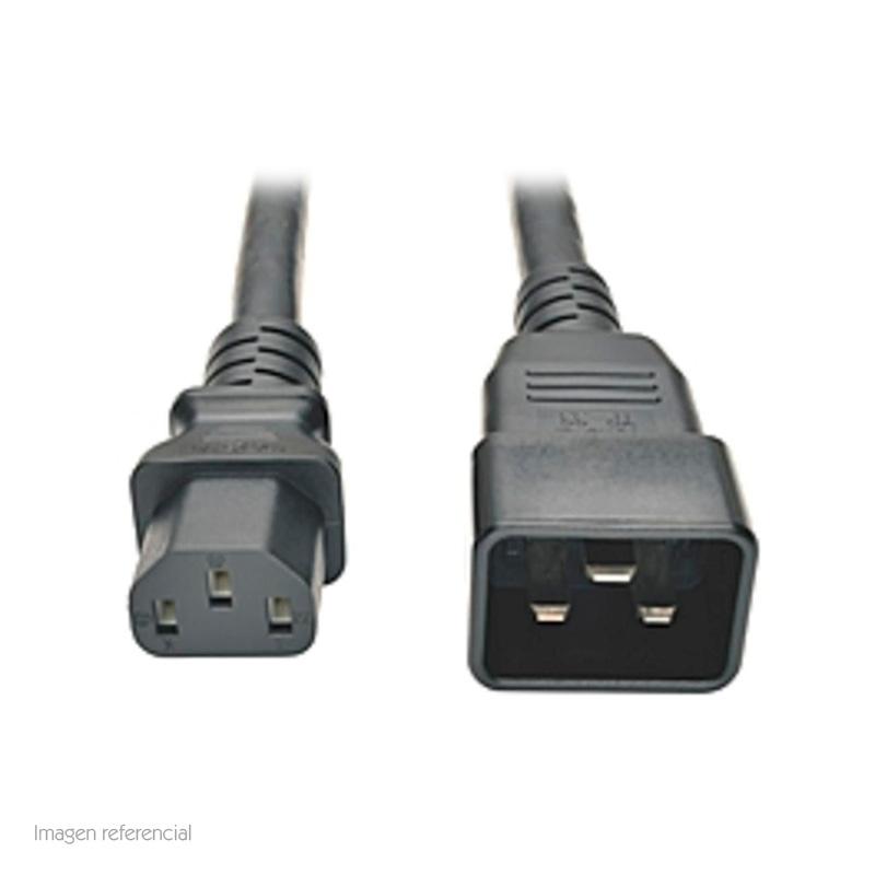 Imagen: Cable de poder Tripp-Lite P032-003, C20 a C13, 15A, 100V ~ 250V, 14 AWG, 91 cm, Negro.