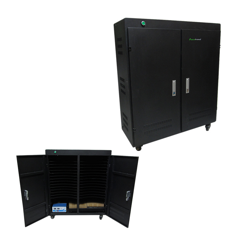 Imagen: Gabinete de carga Ecotrend QP-R30TC, negro.