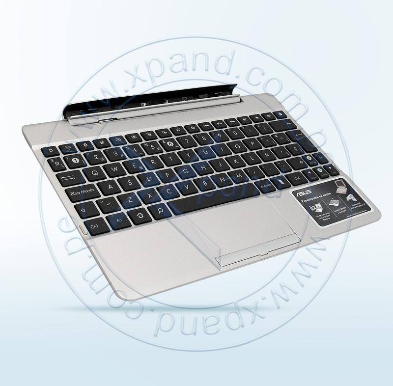 Imagen: Docking Asus TF300T, Blanco, Teclado, TouchPad, conectores USB/de 40 pines, ranura SD.