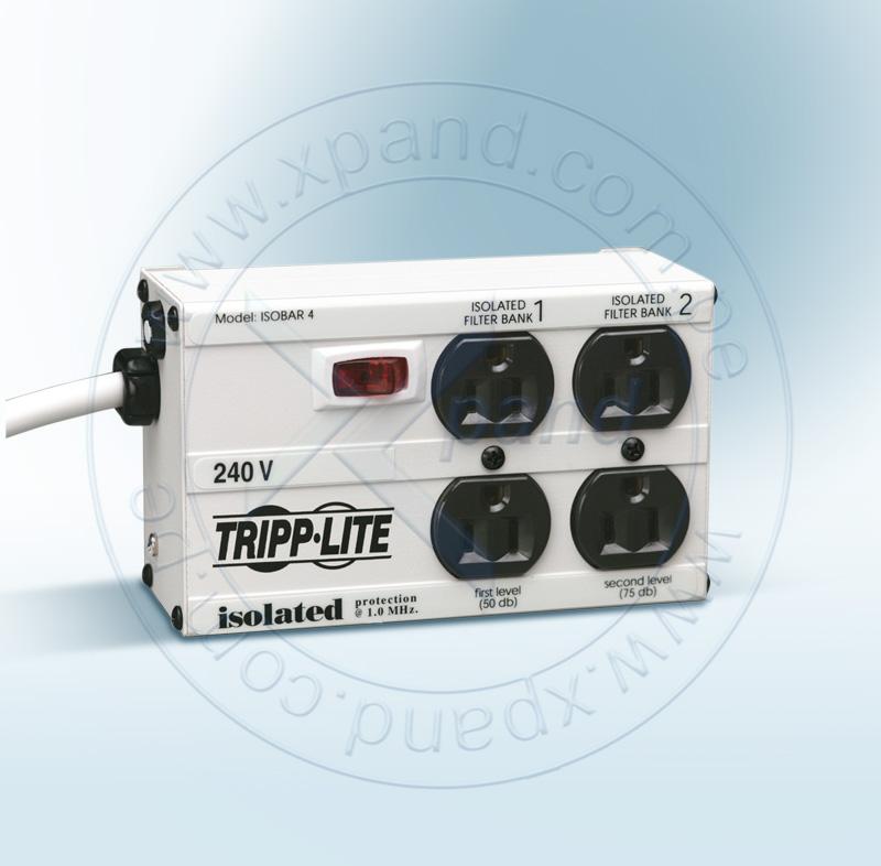 Imagen: Supresor de sobretensiones Tripp-Lite Isobar, 220V, 10A, 4 tomas, cable 1.8m.