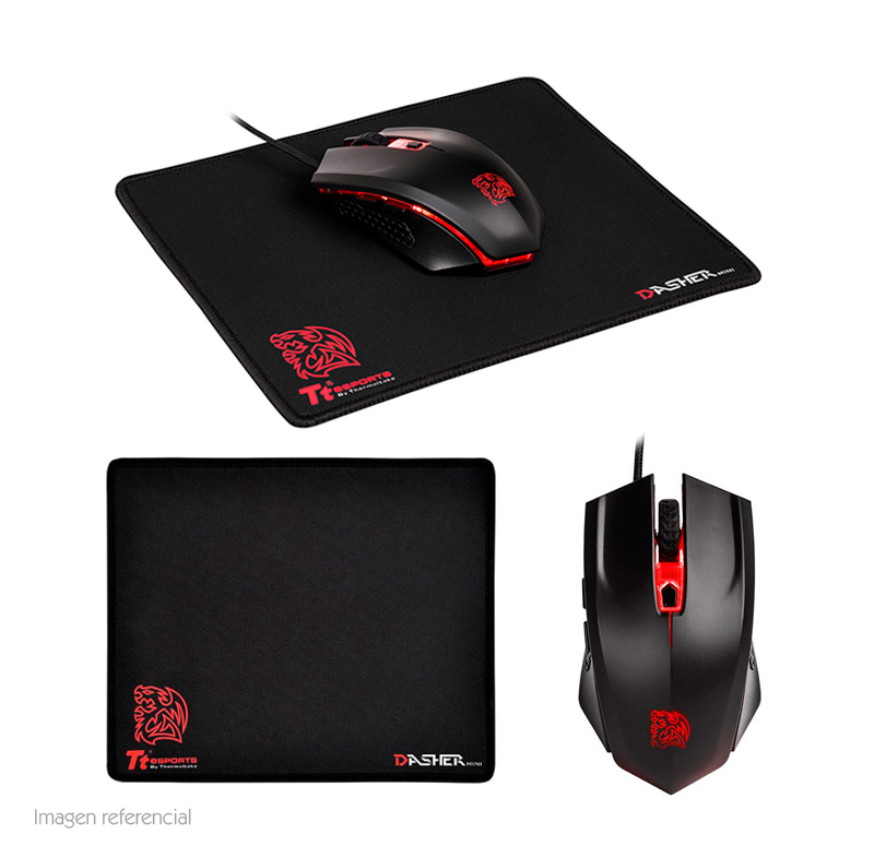 Imagen: Kit Mouse y MousePad TteSports Talon X Gaming Gear, Mouse Talon X, MousePad Dasher Mini.