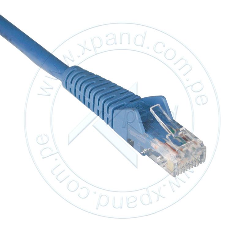 Imagen: Tripp-Lite Cable Patch Moldeado Snagless Cat6 Gigabit (RJ45 M/M), azul, de 0.91m.