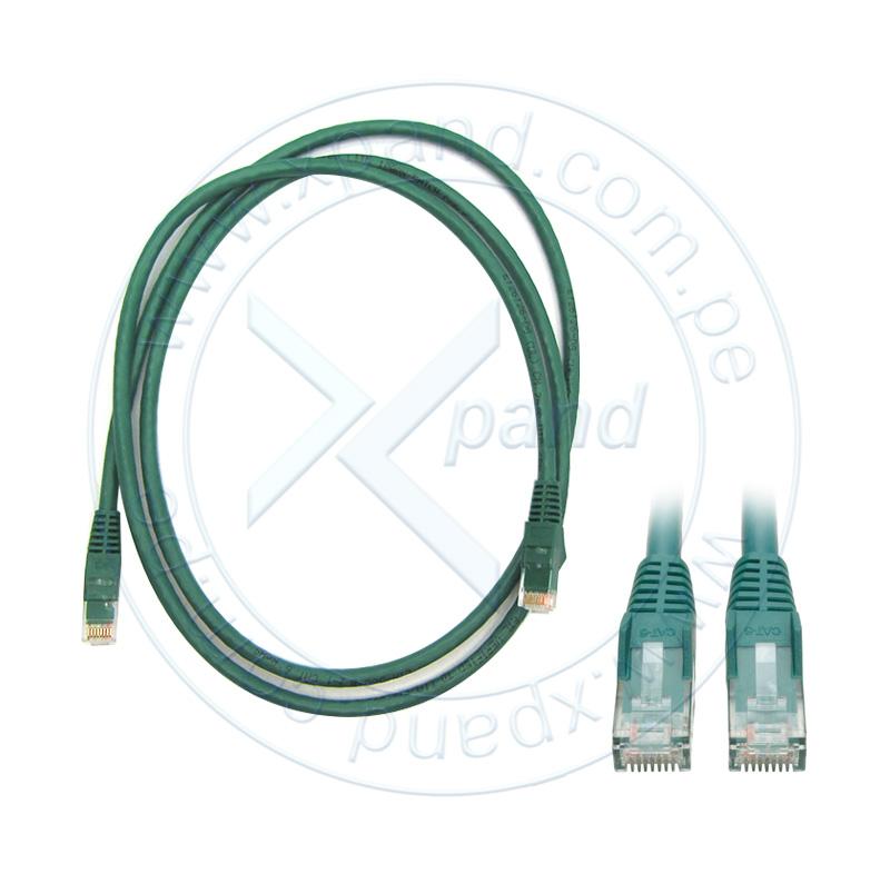 Imagen: Cable Patch Moldeado Tripp-Lite Snagless Cat6 Gigabit (RJ45 M/M), Verde, de 1.52 mts.