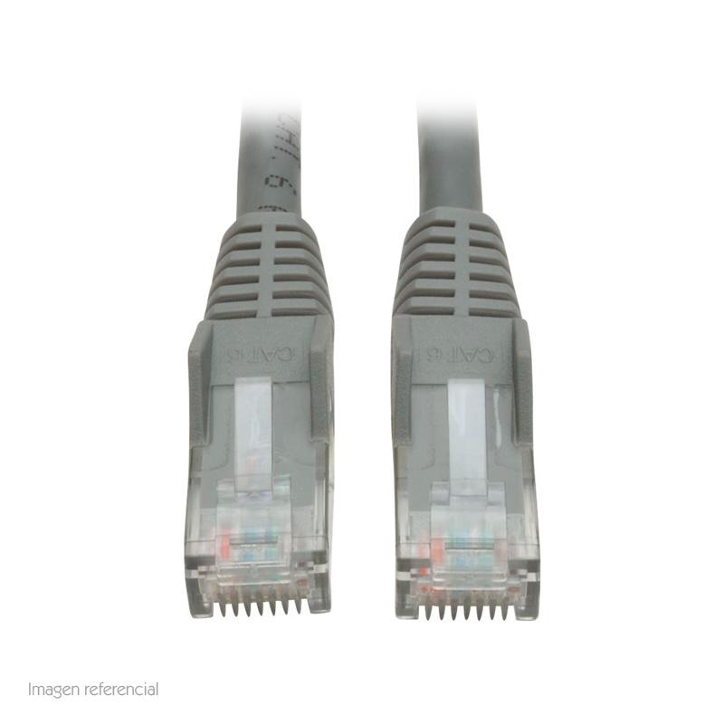 Imagen: Cable Patch Moldeado Tripp-Lite Snagless Cat6 Gigabit (RJ45 M/M), Gris, de 1.52 mts.