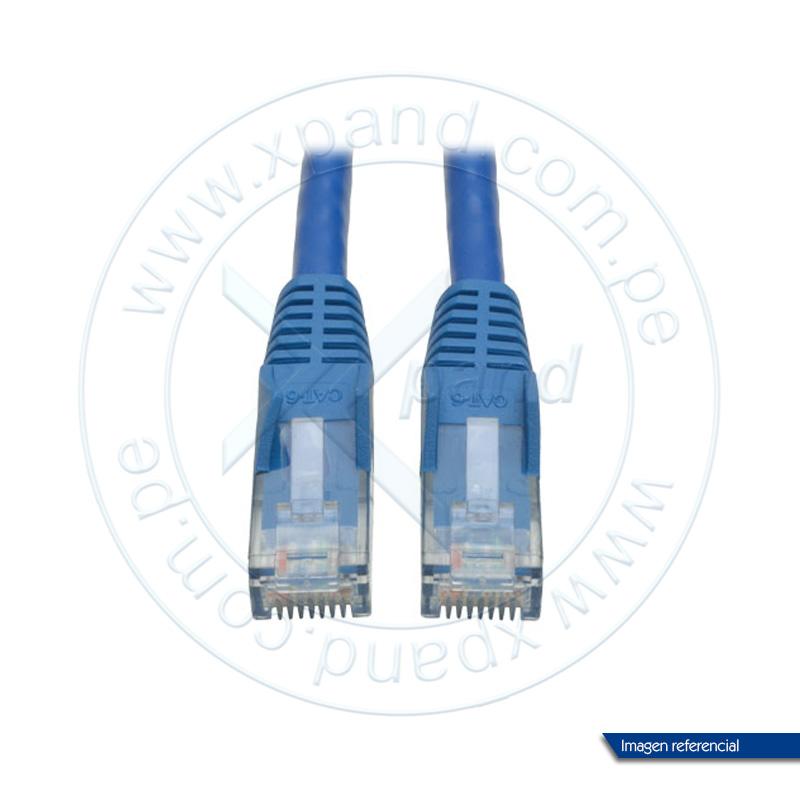 Imagen: Cable Patch Moldeado Tripp-Lite Snagless Cat6 Gigabit (RJ45 M/M) - Azul, de 2.13 mts.