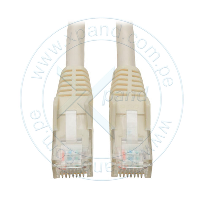 Imagen: Cable Patch Moldeado Tripp-Lite Snagless Cat6 Gigabit (RJ45 M/M) - Blanco, de 2.13 mts.