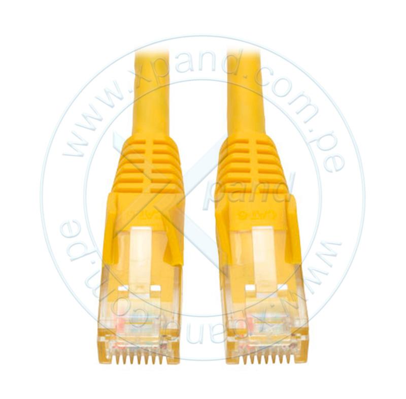 Imagen: Cable Patch Moldeado Tripp-Lite Snagless Cat6 Gigabit (RJ45 M/M) - Amarillo, de 2.13 mts.