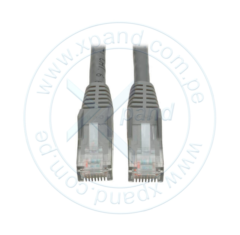Imagen: Cable Patch Moldeado Tripp-Lite Snagless Cat6 Gigabit (RJ45 M/M) - Gris, de 3.05 mts.