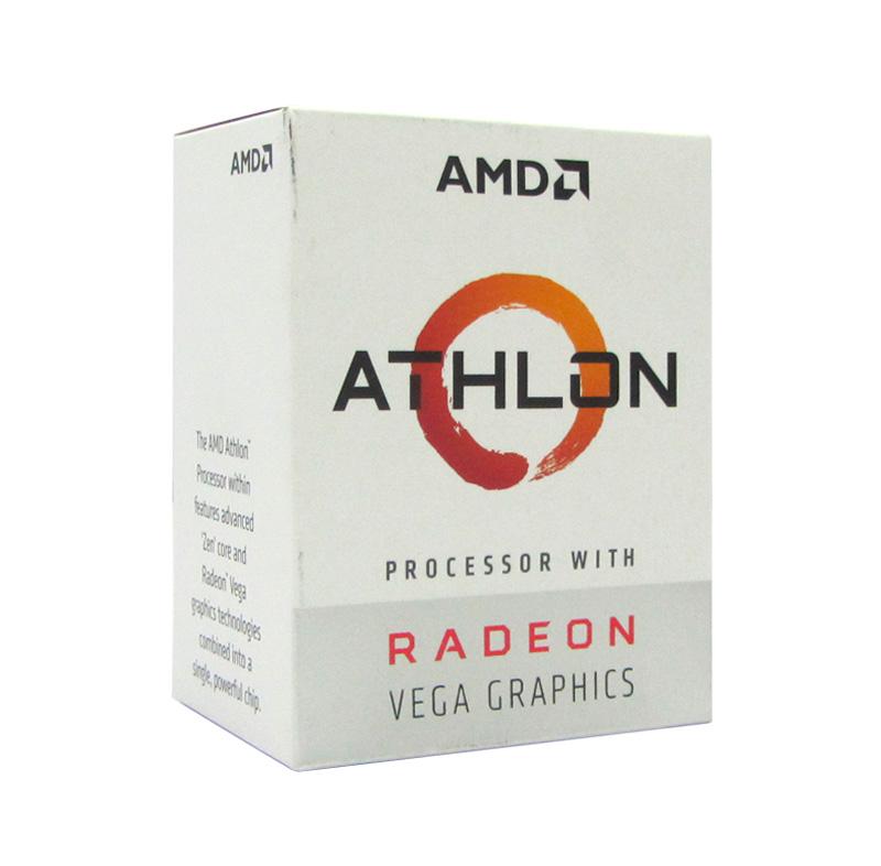 Imagen: Procesador AMD Athlon 200GE, 3.20GHz, 4MB L3, 1MB L2, 2 Cores, AM4, 14nm, 35W, caja.