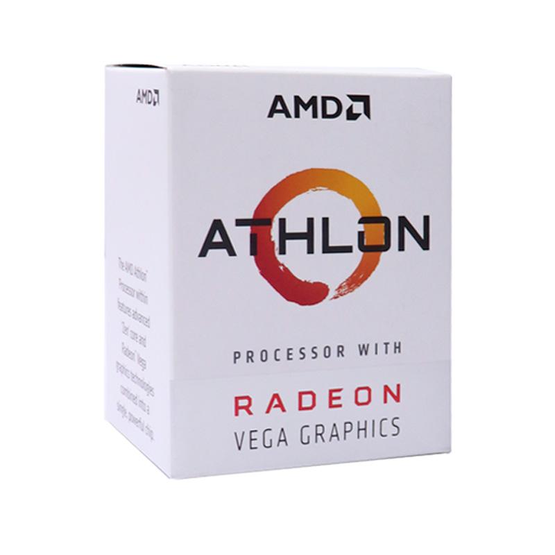 Imagen: Procesador AMD Athlon 3000G, 3.50GHz, 4MB L3, 1MB L2, 2 Cores, AM4, 14nm, 35W, caja.
