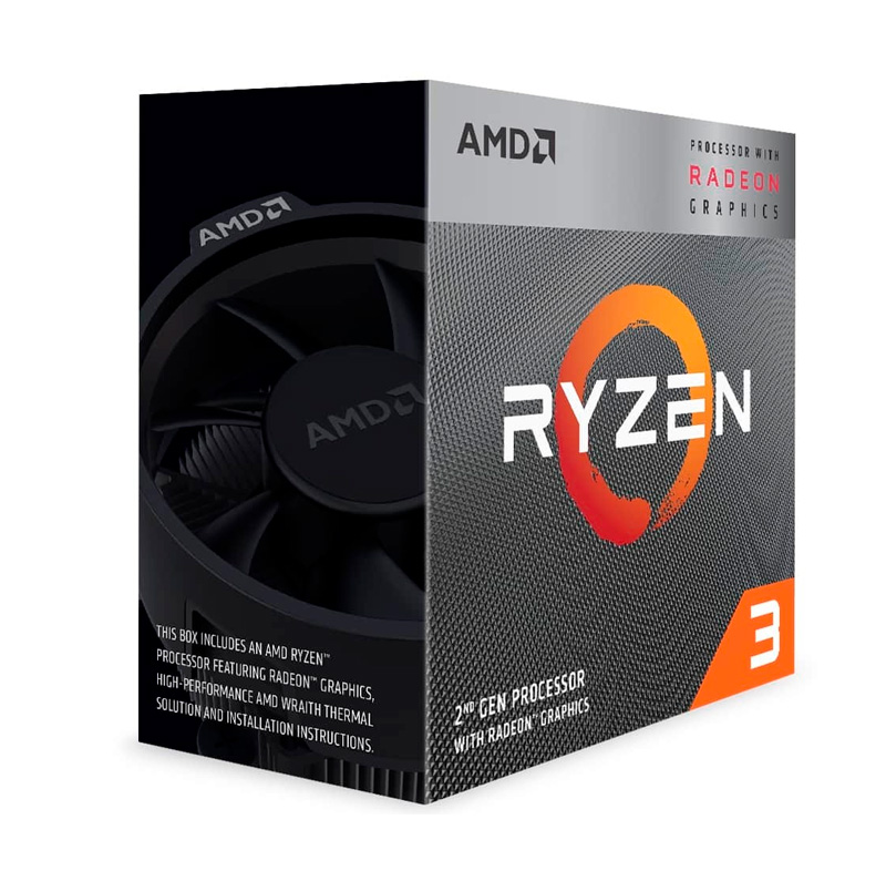 Imagen: Procesador AMD Ryzen 3 3200G, 3.60GHz, 4MB L3, 4 Core, AM4, 14nm, 65 W.