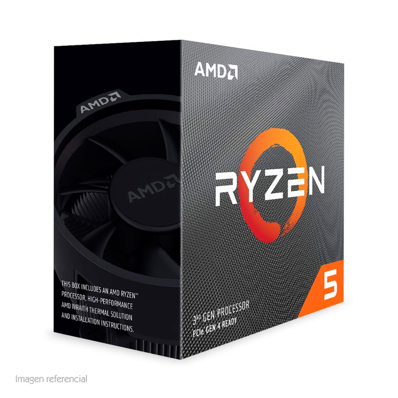 Imagen: Procesador AMD Ryzen 5 3600, 3.60GHz, 32MB L3, 6 Core, AM4, 7nm, 65W.