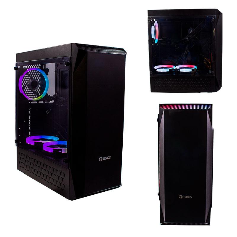 Imagen: Case Gamer Teros TE-1141N, Mid Tower, ATX, 450W, Negro, USB 3.0 / 2.0, Audio.