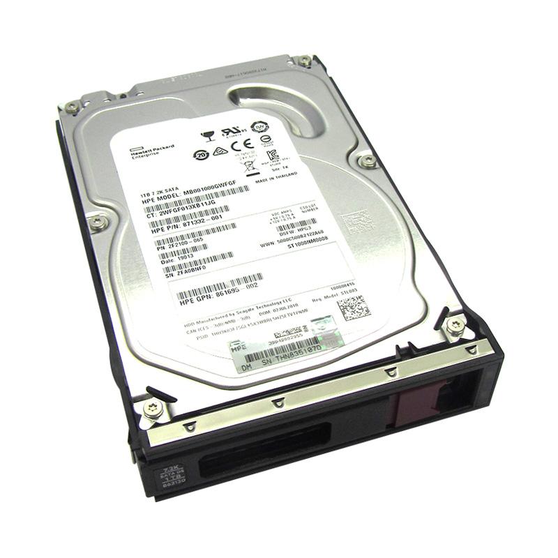 """Imagen: Disco duro HP 861686-B21, 1TB, SATA 6.0, 7200 RPM, 512n, 3.5, LFF""""."""