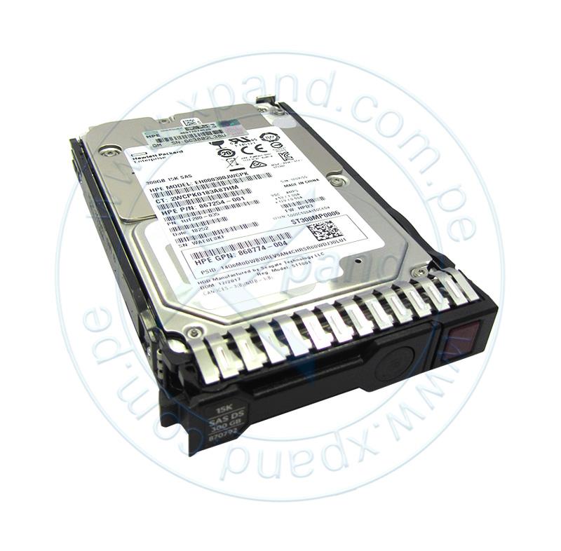 "Imagen: Disco duro HPE 870753-B21, 300GB, SAS 12 Gbps, 15 000 RPM, 2.5"", SFF."