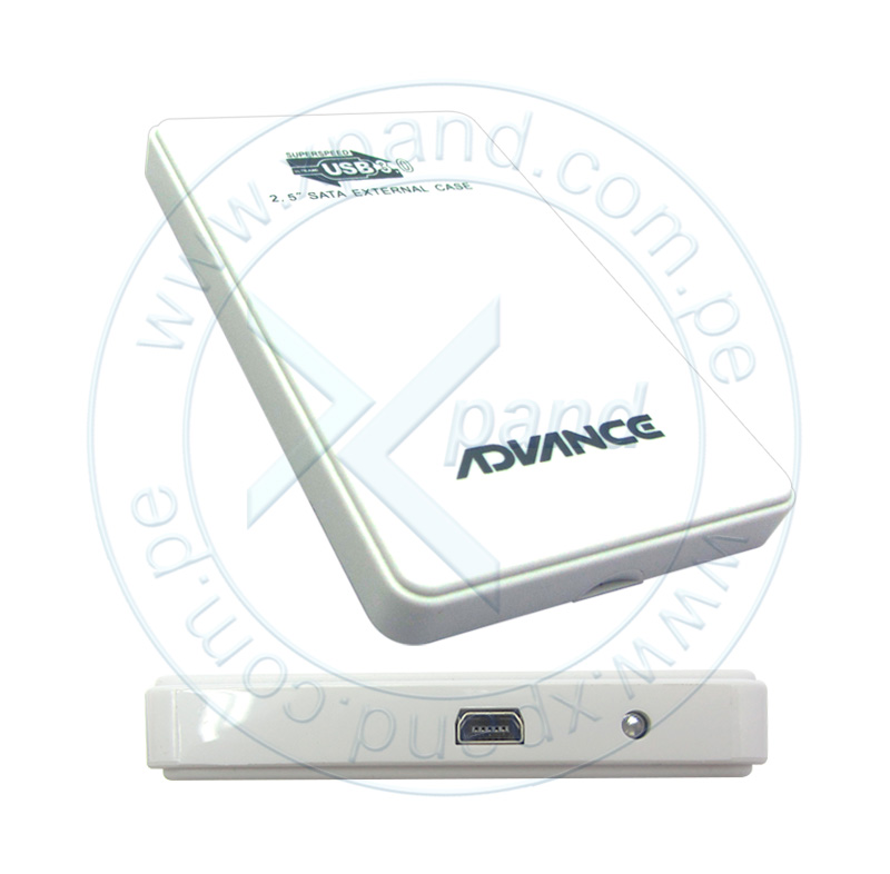 "Imagen: Disco duro Externo Advance HDE500, USB 3.0, 500GB, 2.5"", Blanco."