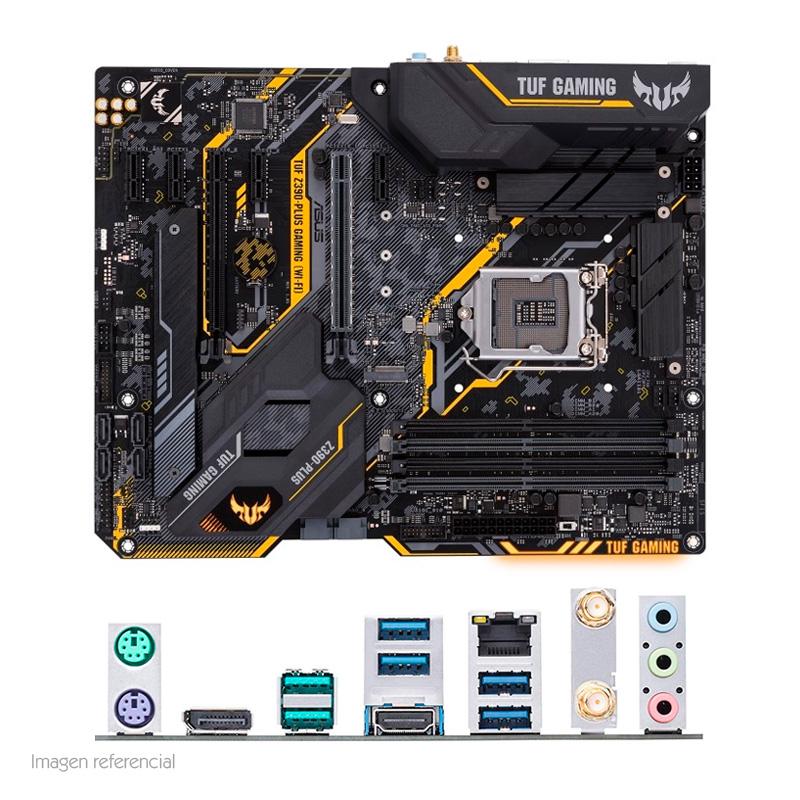 Imagen: Motherboard Asus Tuf Z390 Plus Gaming WiFi, LGA1151, Z390, DDR4, SATA 6.0, USB 3.1