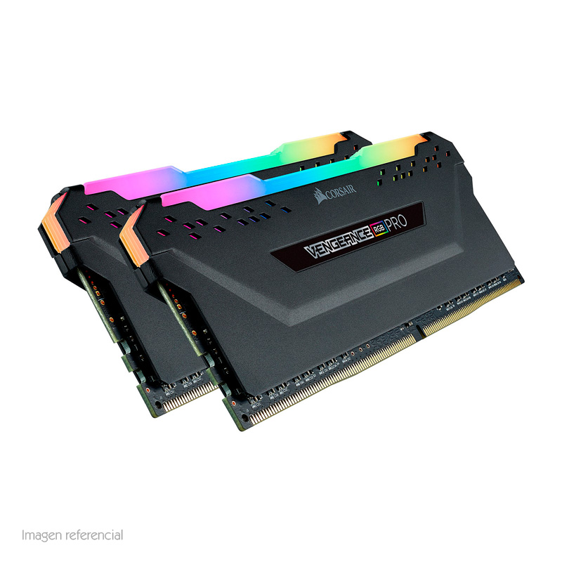 Imagen: Memoria Corsair Vengeance RGB Pro, 16GB KIT (2 X 8GB), DDR4, 3600 MHz, CL-18, 1.35V