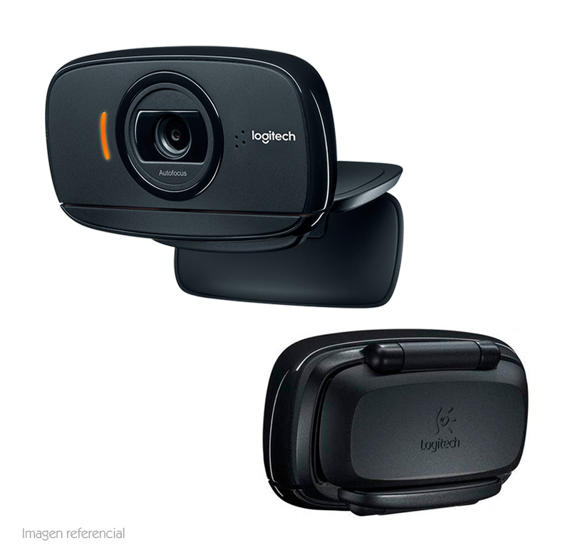 Imagen: Cámara web Logitech B525, hasta 1080p HD, microfono, 2MP, USB 2.0, gira 360º.