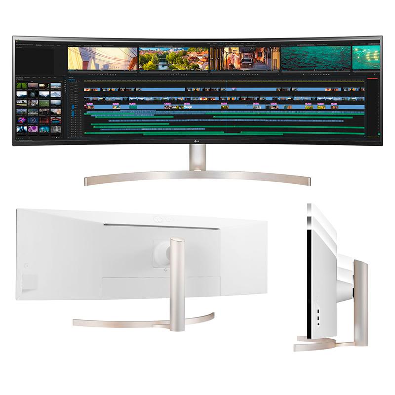 "Imagen: Monitor LG 49WL95C-W, 49"", 5120 x 1440, UltraWide Dual QHD, HDMI / DP / USB-C / Audio."