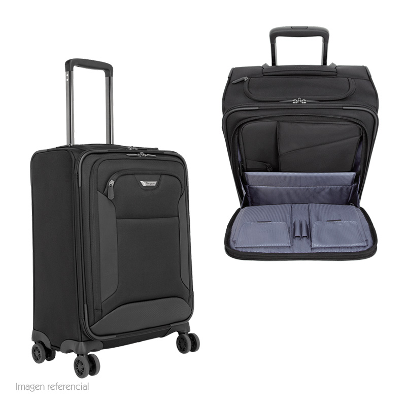 "Imagen: Maletin Targus Travel Corporate, notebook de hasta 15.6"", 4 ruedas y asa, Negro."