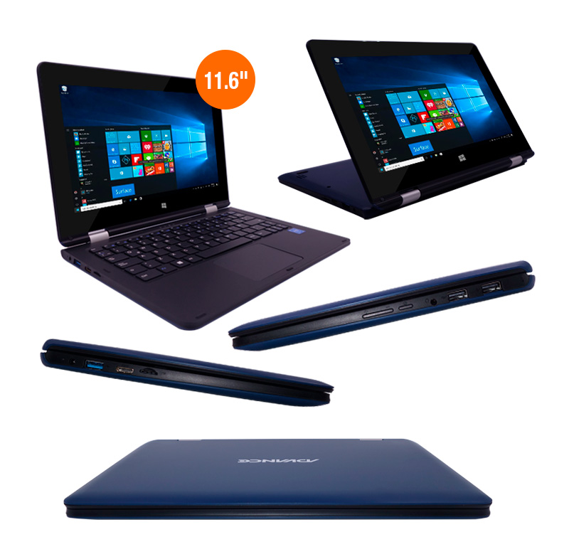 "Imagen: Notebook 2 en 1 Advance Nova NV9942, 11.6"" FHD, Intel Celeron N3350 1.10 GHZ, 3GB DDR3."
