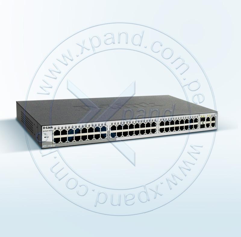 Imagen: Switch Smart D-Link DES-1210-52, 48 RJ-45 10/100, 2 RJ-45 LAN GbE, 2 Combo 1000 Base T/SFP
