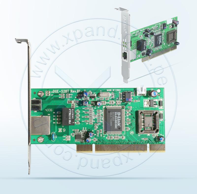 Imagen: Tarjeta de red D-Link, DGE-528T, PCI, RJ-45, LAN GbE.