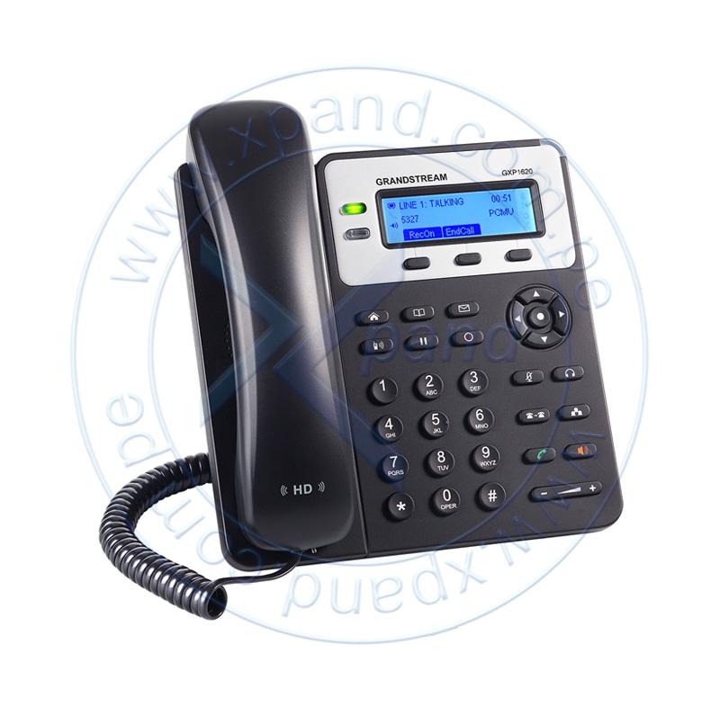 Imagen: Teléfono IP GRANDSTREAM GXP1620, 2 líneas, LCD 132 X 48, RJ-45, Audio HD.