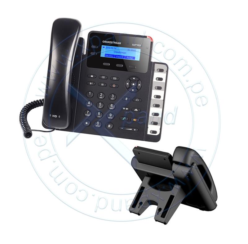 Imagen: Teléfono IP GRANDSTREAM GXP1628, 2 lineas, LCD 132 X 48, RJ-45 GbE PoE, Audio HD.