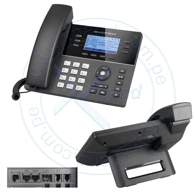 """Imagen: Teléfono Wi-Fi IP Grandstream GXP1760W, Dual Band 2.4/5 GHz, pantalla LCD 3.3"""""""