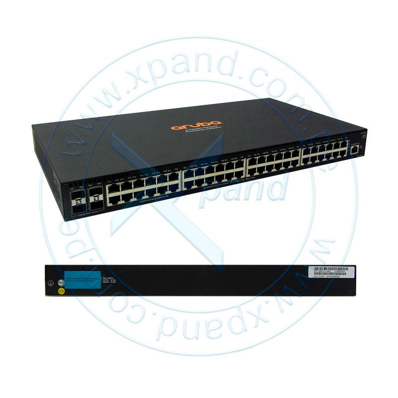 Imagen: Switch Gigabit Ethernet HPE Aruba 2540, 48 RJ-45 GbE, 4 SFP+ 1/10 GbE.