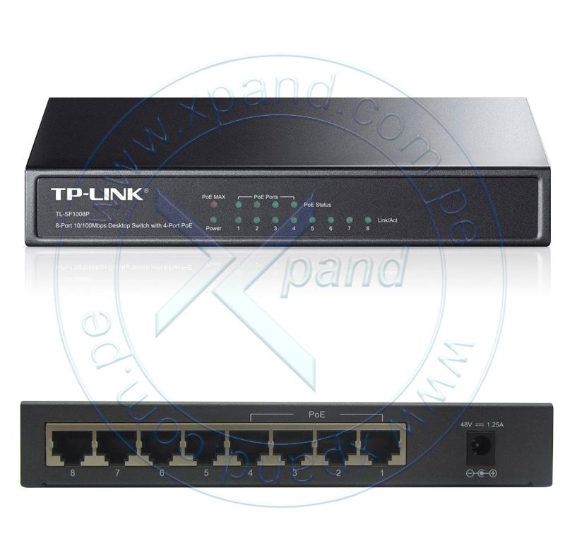 Imagen: Switch TP-Link TL-SG1008P, 8 Puertos GbE (4 Puertos PoE : IEEE 802.3af).