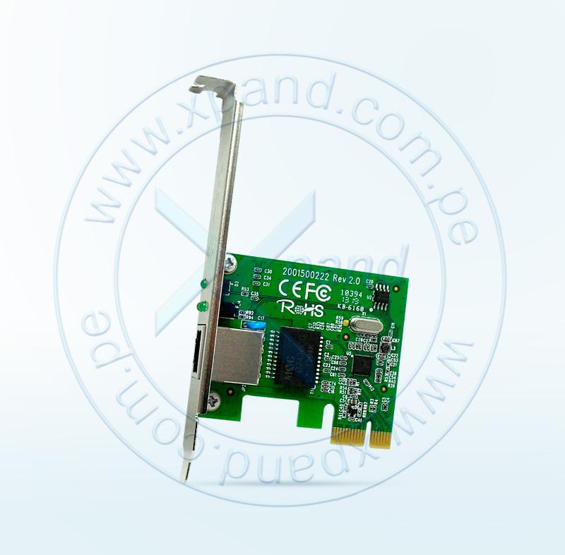 Imagen: Tarjeta de red TP-LINK TG-3468, PCI, RJ-45, LAN GbE, Presentación en caja.