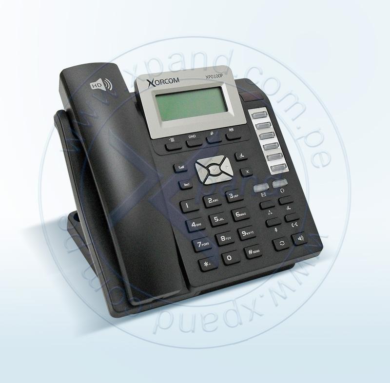 Imagen: ASTERISK, TELEFONOS; XORCOM; IP PHONE 2 SIP CON POE Y FNT