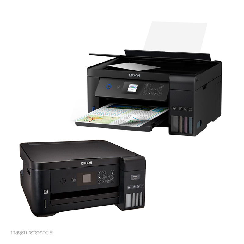 Imagen: Multifuncional de tinta Epson EcoTank L4160, imprime/escanea/copia, Wi-Fi / USB 2.0.