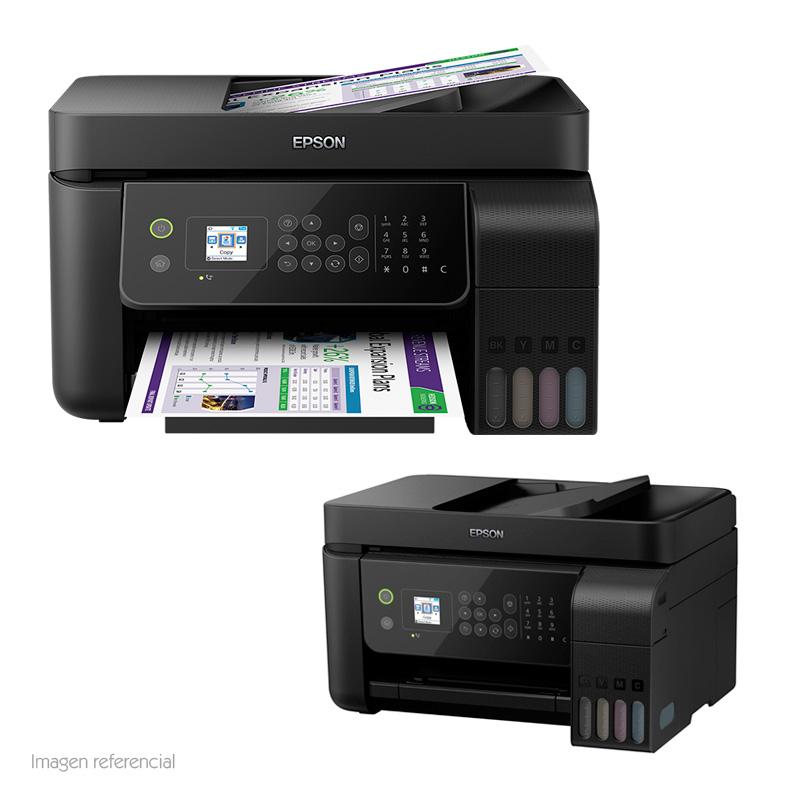 Imagen: Multifuncional de tinta continua Epson L5190, imprime/escanea/copia/Fax, USB/LAN/WiFi.