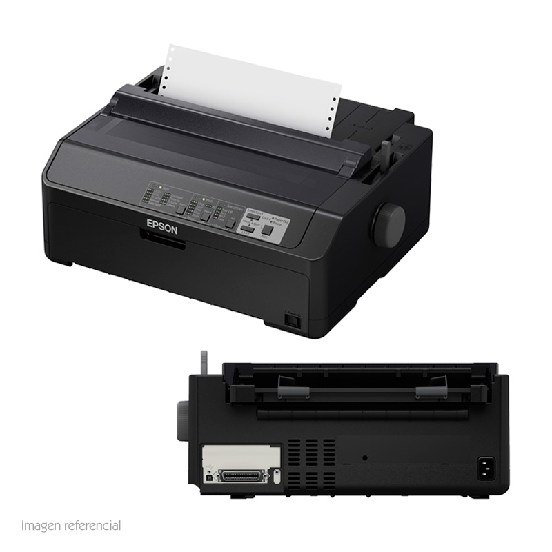 Imagen: Impresora matricial Epson LQ-590II, matriz de 24 pines, Paralelo / USB 2.0, 100V - 240VAC.