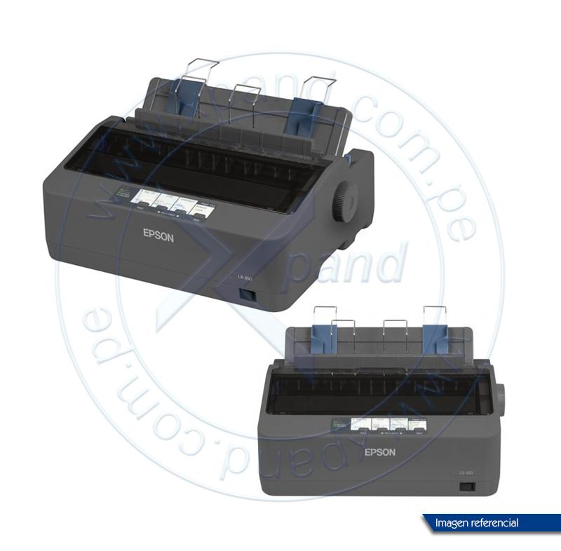 Imagen: Impresora de matriz Epson LX-350, matriz de 9 pines, velocidad máxima 347 cps (10 cpi).