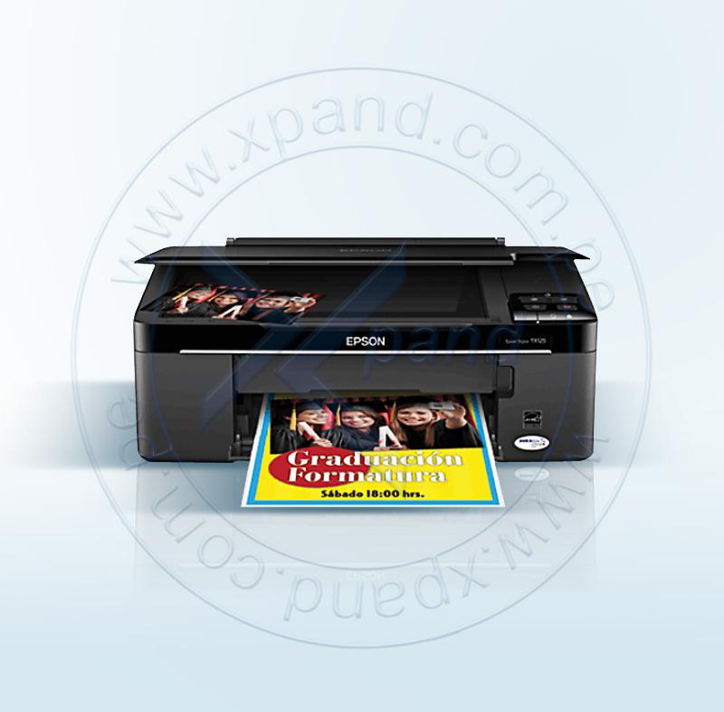 Imagen: Multifuncional de tinta Epson Stylus TX125, imprime/escanea/copia, USB 2.0.