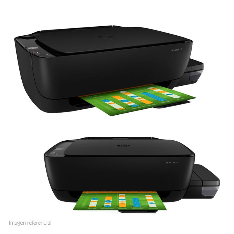 Imagen: Impresora Multifuncional con tanque de tinta HP 315, Imprime/Escáner/Copia, USB.